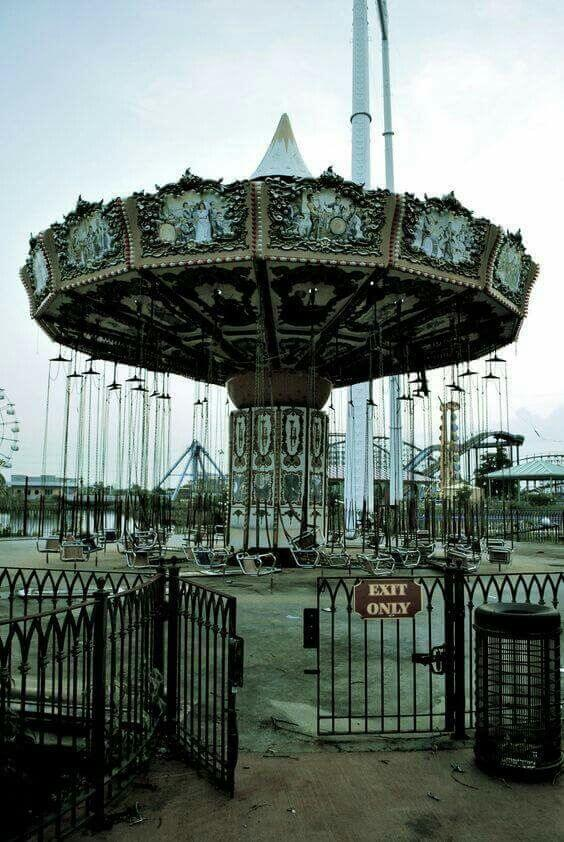 abandoned theme park in New Orleans, Louisiana.