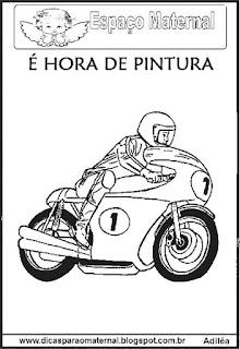 Desenho moto para colorir
