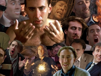 A collage of Nicolas Cage's films