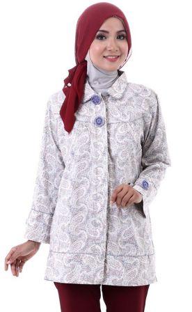 Gambar Model Baju Batik Muslim Modern Terbaru