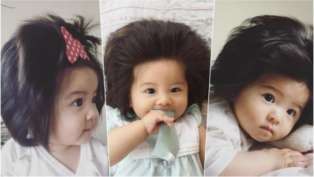 μωρό από την Ιαπωνία με την πλούσια χαίτη
