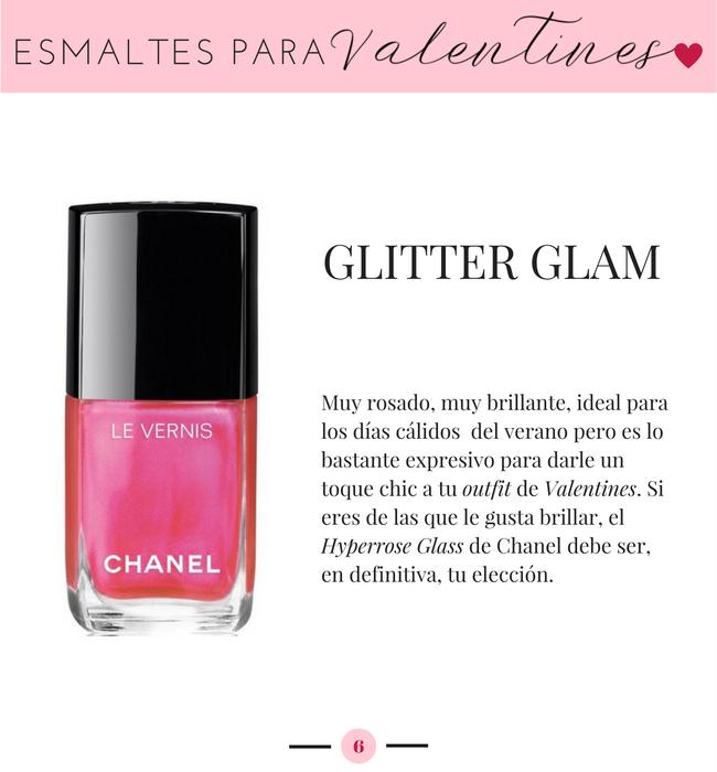 Chanel Hyperrose Glass, Esmaltes para San Valentin