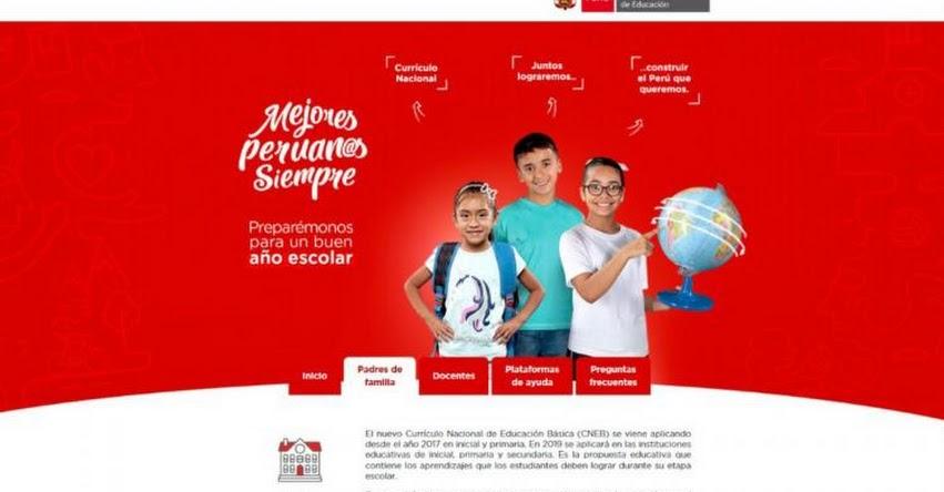 MINEDU abre portal web para absolver dudas sobre matrícula escolar 2019 - www.mejoresperuanossiempre.pe