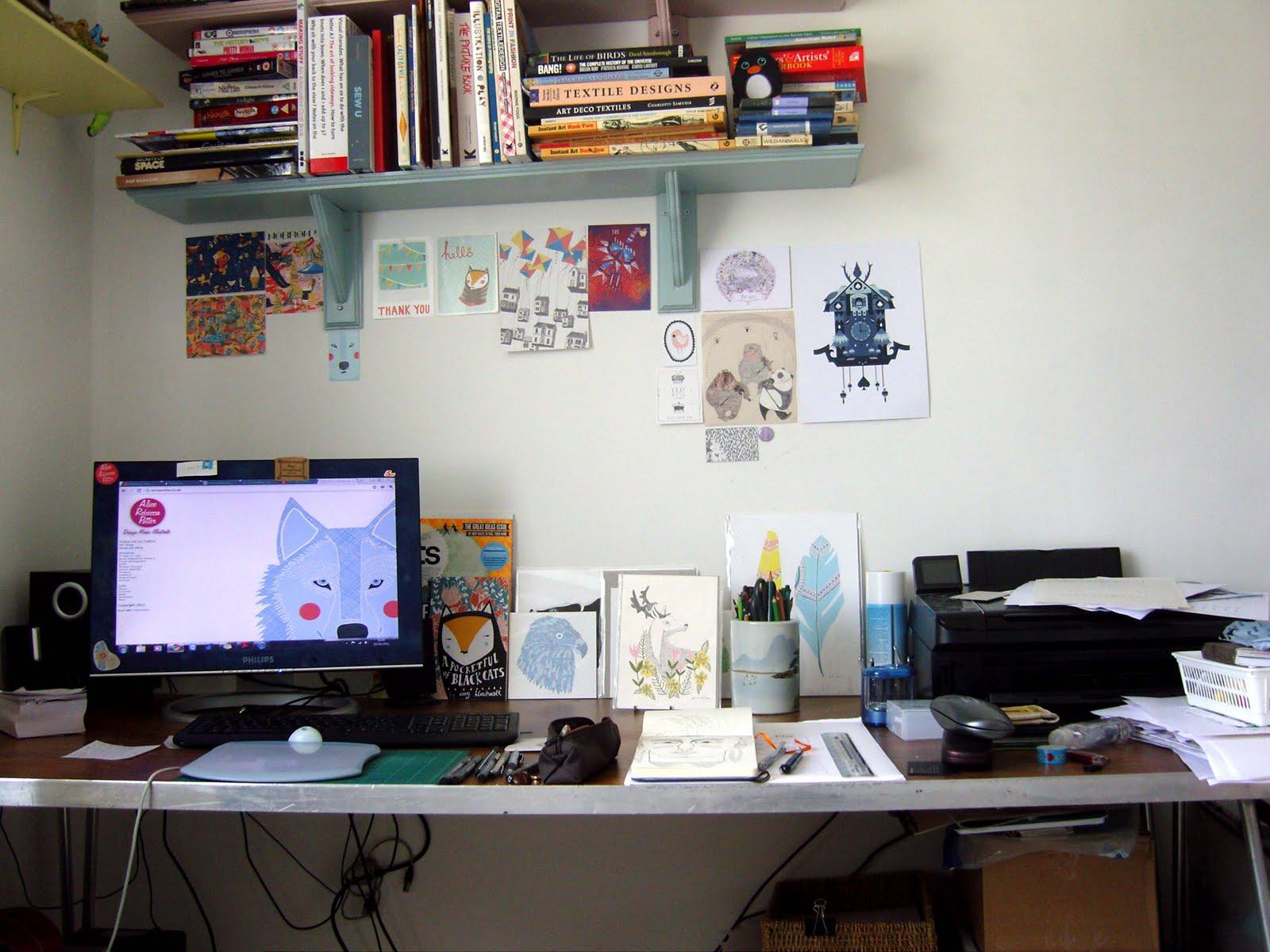 tidy desk tidy mind alice potter illustration and print design