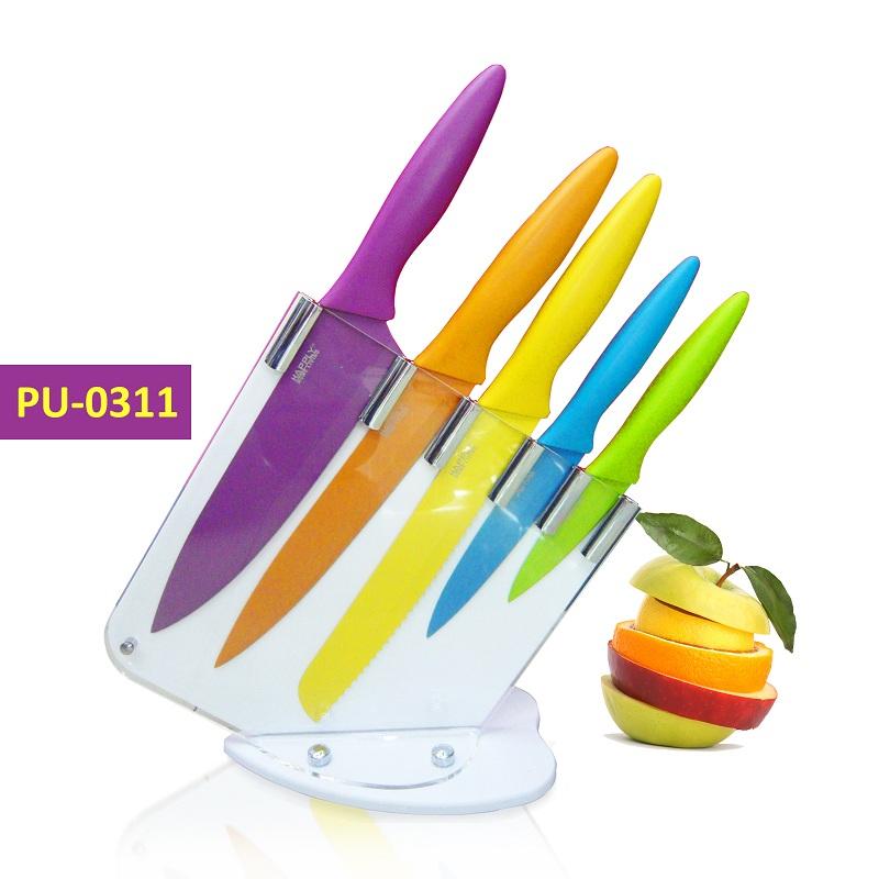 Dapatkan Harga Spesial Untuk Pu 0311 5pcs Pisau Dapur Color Set Di Desty Online