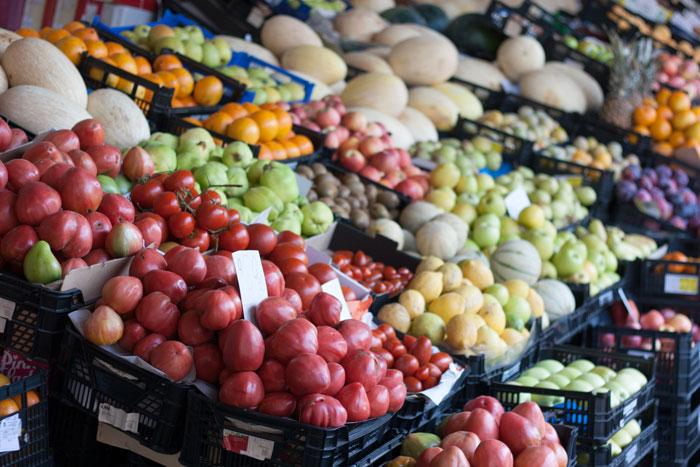 Mi viaje a Oporto Frutas en el mercado do Bolhao