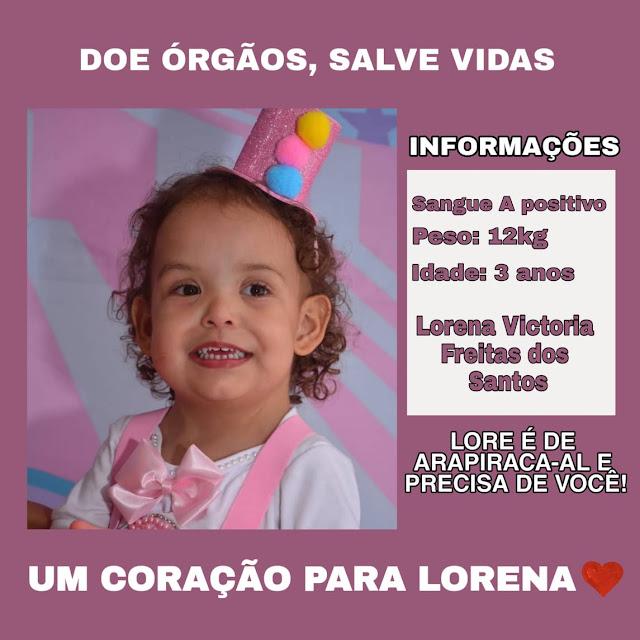 Mãe arapiraquense faz campanha por um coração novo para filha de 3 anos