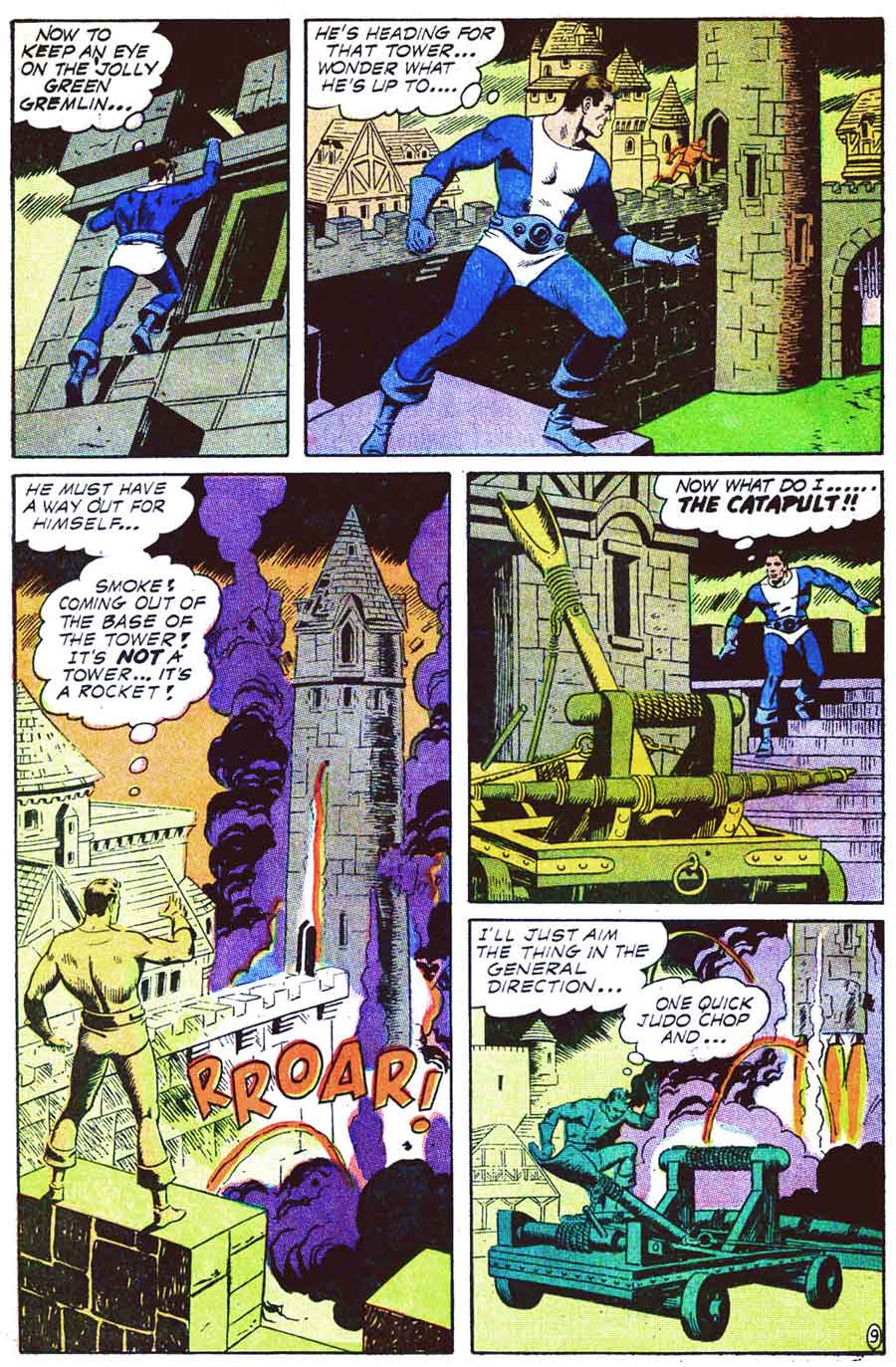 Thunder Agents v1 #8 tower silver age 1960s comic book page art by Wally Wood