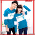 FHGS9161 Model Cp T Shirt, Baju Pusple Turkis Couple BMG