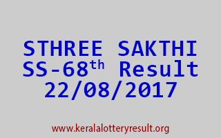 STHREE SAKTHI Lottery SS 68 Results 22-8-2017