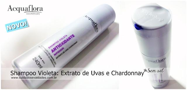 Shampoo Violeta Chardonnay Acquaflora cabelos loiros