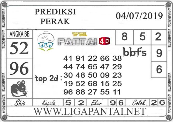 """PREDIKSI TOGEL """"PERAK"""" PANTAI4D 4 JULI 2019"""