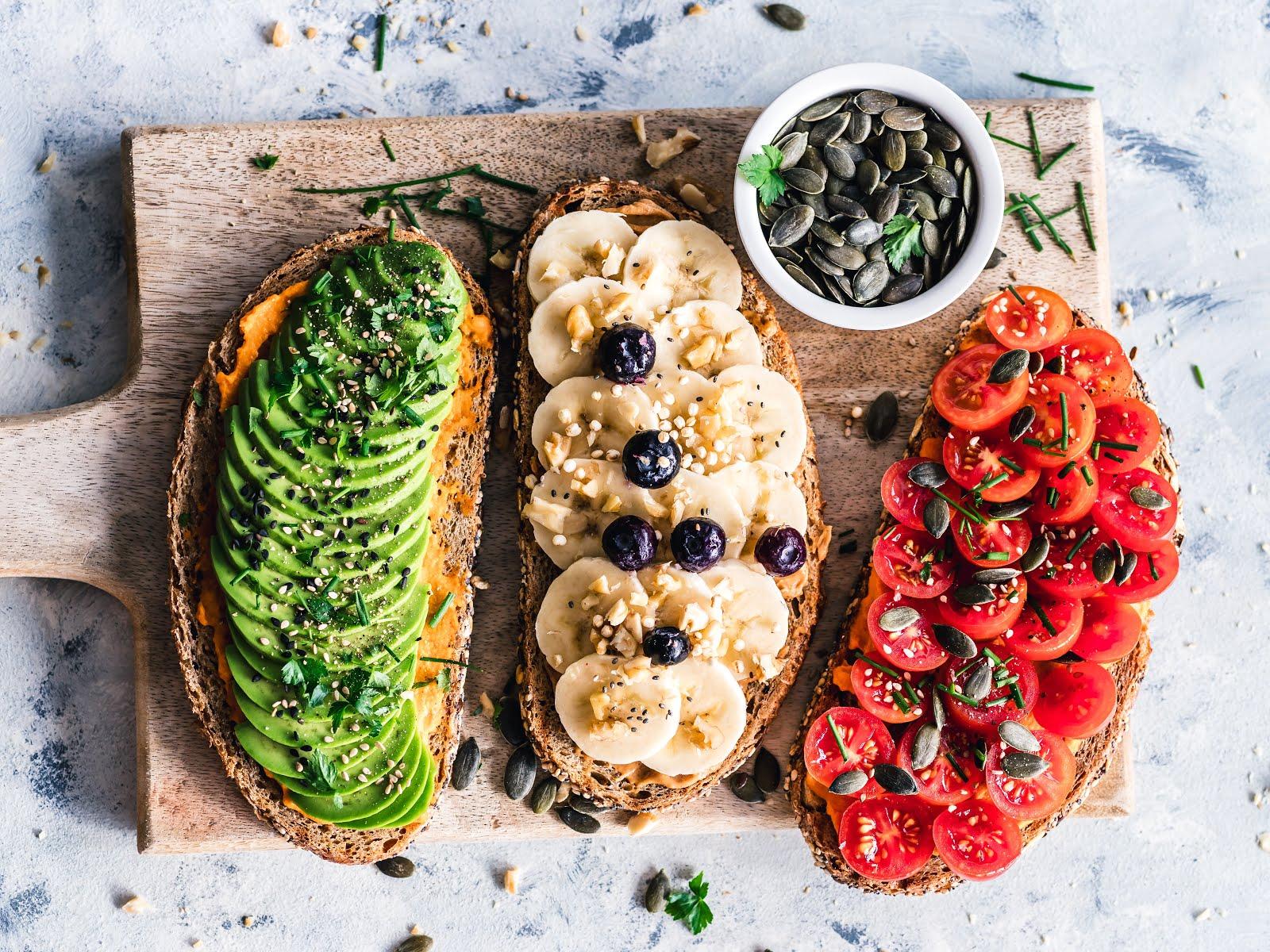 vegan cities food with avocado