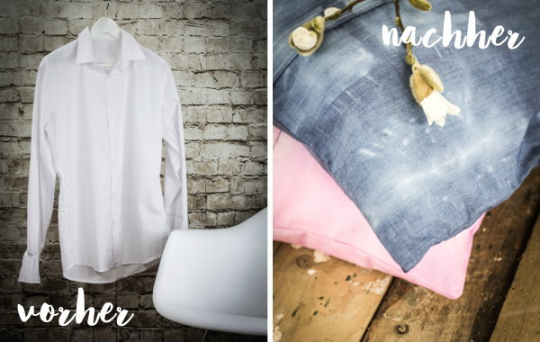 vorher Hemd - nachher tolles DIY Kissen