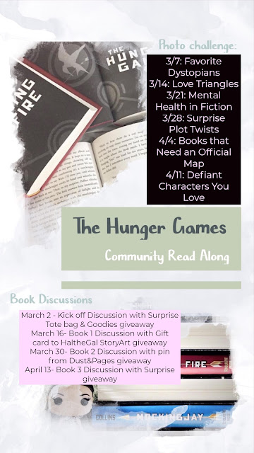 The Hunger Games community read along - Bookstagram photo challenge with giveaway