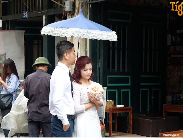 jeunes maries seance photo hanoi vietnam