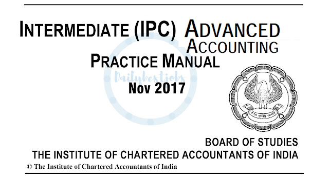 IPCC Adv Accounts Practice Manual