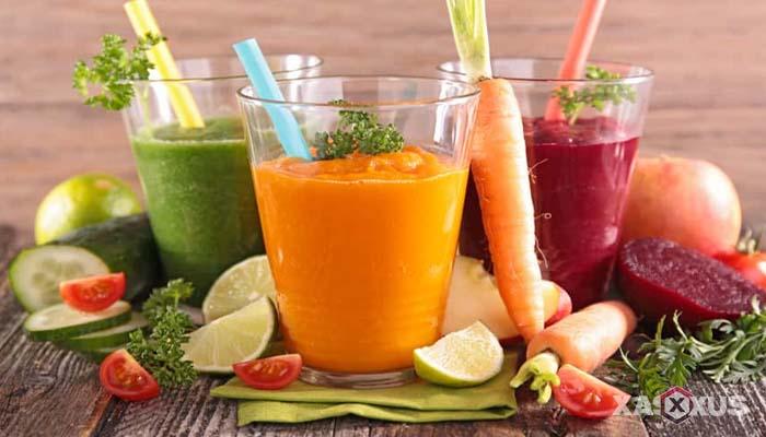 Minuman untuk diet alami dan cepat - Jus sayuran