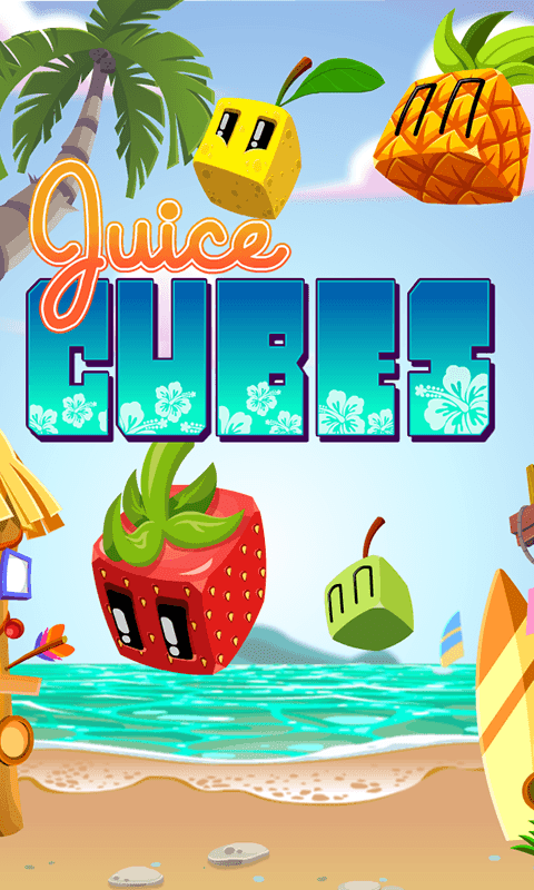 Juices Cubes Funny Puzzle Game for Android