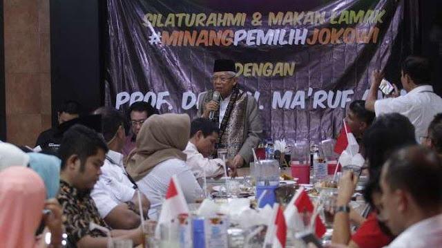 Bertemu Orang Minang, Ma'ruf Amin Merasa Ada Kemiripan dengan Bung Hatta