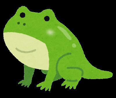 しっぽの生えたカエルのイラスト(カエルの成長)