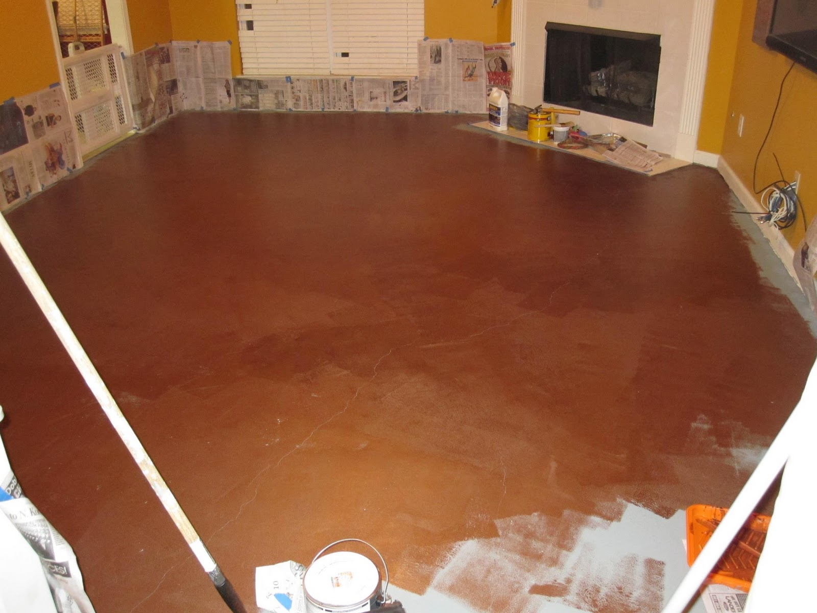 Raising Royalty Painted Concrete Floors Are Beautiful