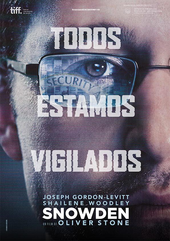 Póster y tráiler español de 'Snowden' de Oliver Stone