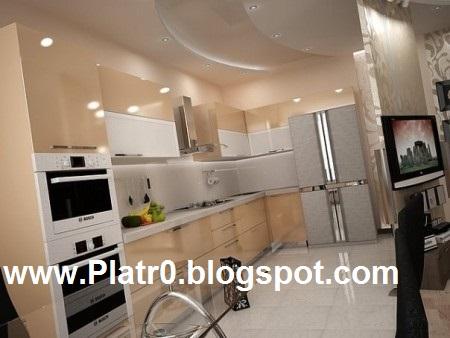 Deco plafond cuisine d coration platre maroc faux plafond dalle arc platre - Decor platre pour cuisine ...