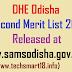DHE Odisha +2 Second Merit List 2018 Released at www.samsodisha.gov.in