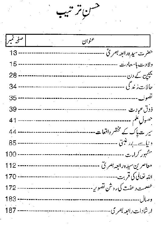 Seerat e Pak Hazrat Rabia Basri r.a Urdu Book