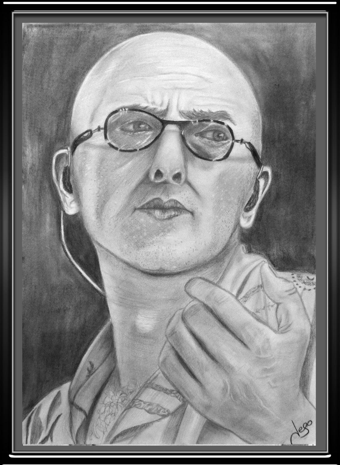 Retratos Realistas Y Dibujos El Indio Solari Dibujo A Lápiz Por Jego