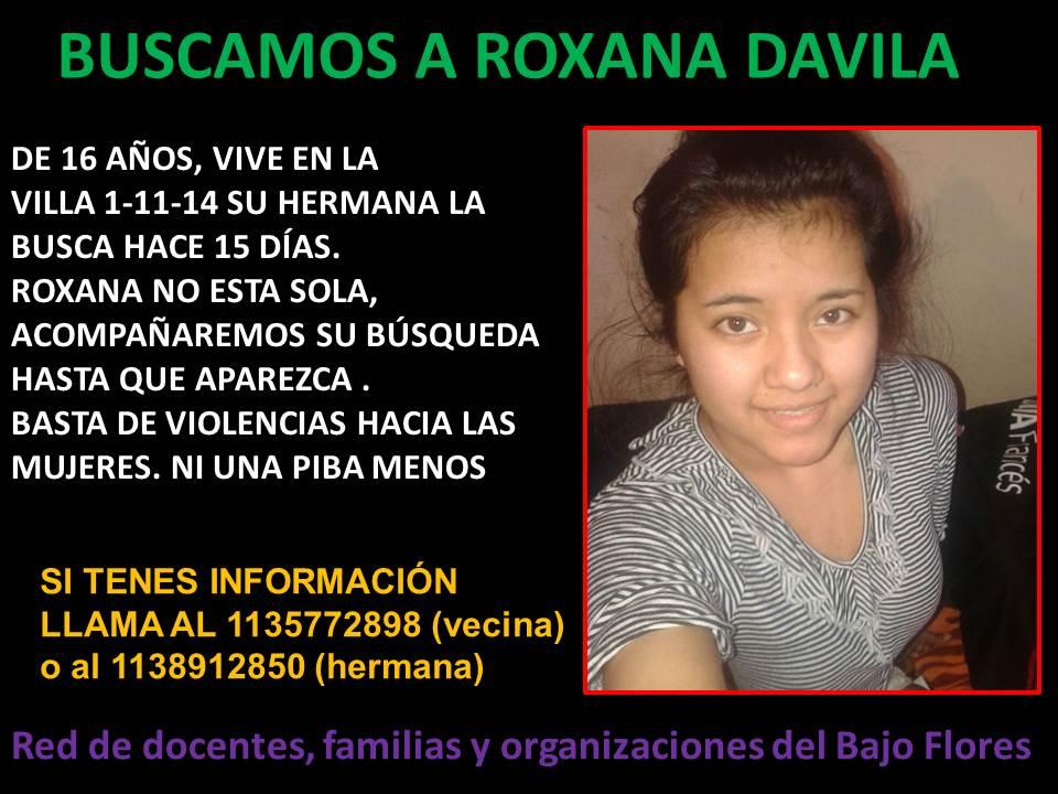 """""""Roxana lleva veinte días desaparecida, la queremos viva, sana y salva"""""""