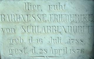 Lápide Baronesa Friederike von Schlabrendorff, Cemitério Municipal de São Leopoldo