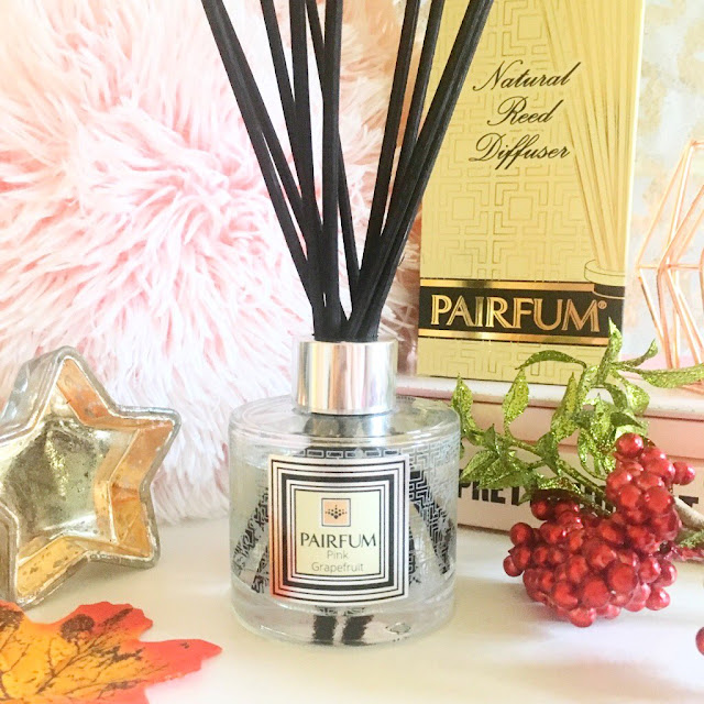 Pairfum Reed Diffuser Bottle and Packaging