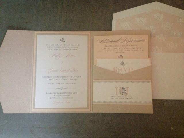 Blush And Ivory Wedding Invitations: Dani's Details: Blush And Champagne Wedding Invitations