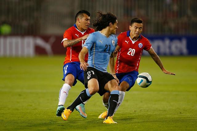 Chile y Uruguay en partido amistoso, 18 de noviembre de 2014