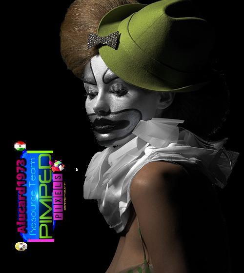 PNG Payaso mujer