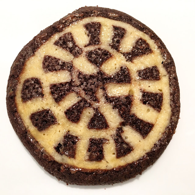 Vanilla & Chocolate Checkerboard Swirl Shortbread Cookie
