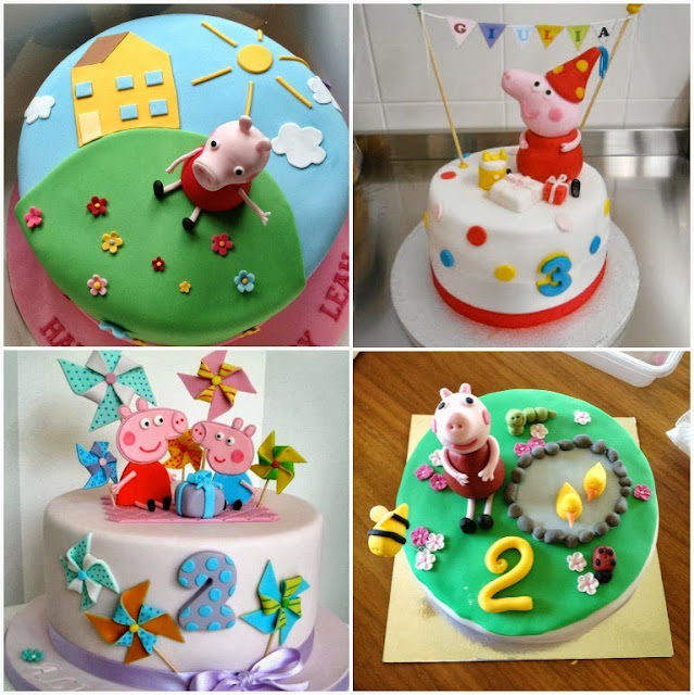 Bolos decorados peppa