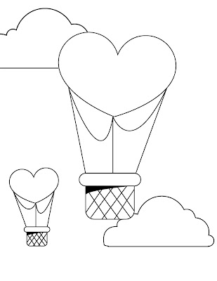 Valentine Love Balloons Coloring Pages Printable