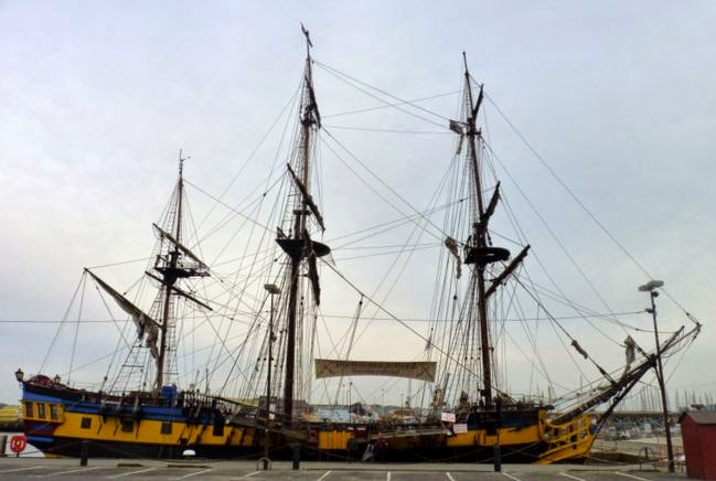 Barco para visitar en Saint Malo.