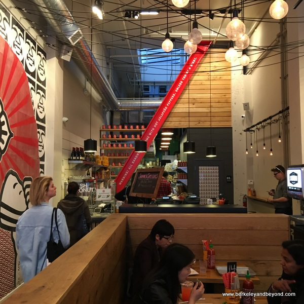 interior of Bun Mee Vietnamese sandwich shop in San Francisco