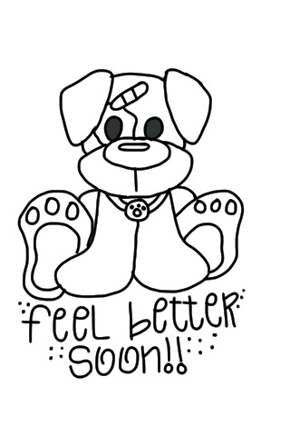 feel better coloring pages cre8tive hands feel better soon