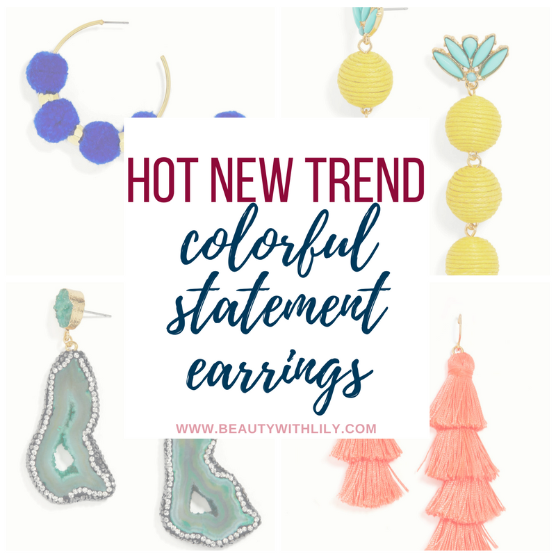 Trendy & Colorful Statement Earrings // Fun Statement Earrings // Affordable Statement Earrings | beautywithlily.com