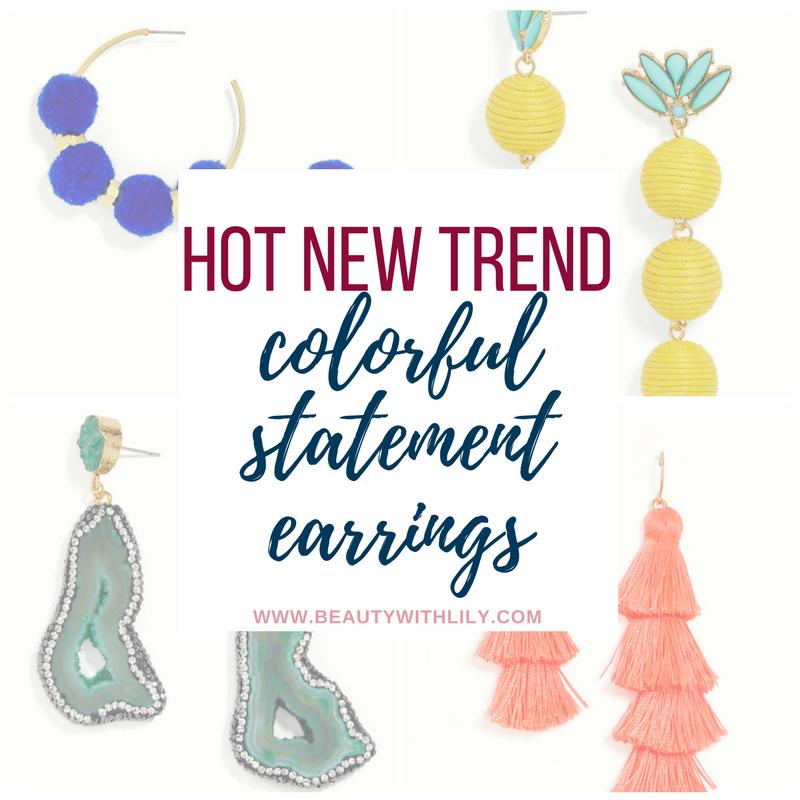 Trendy & Colorful Statement Earrings // Fun Statement Earrings // Affordable Statement Earrings | beautywithlily.com
