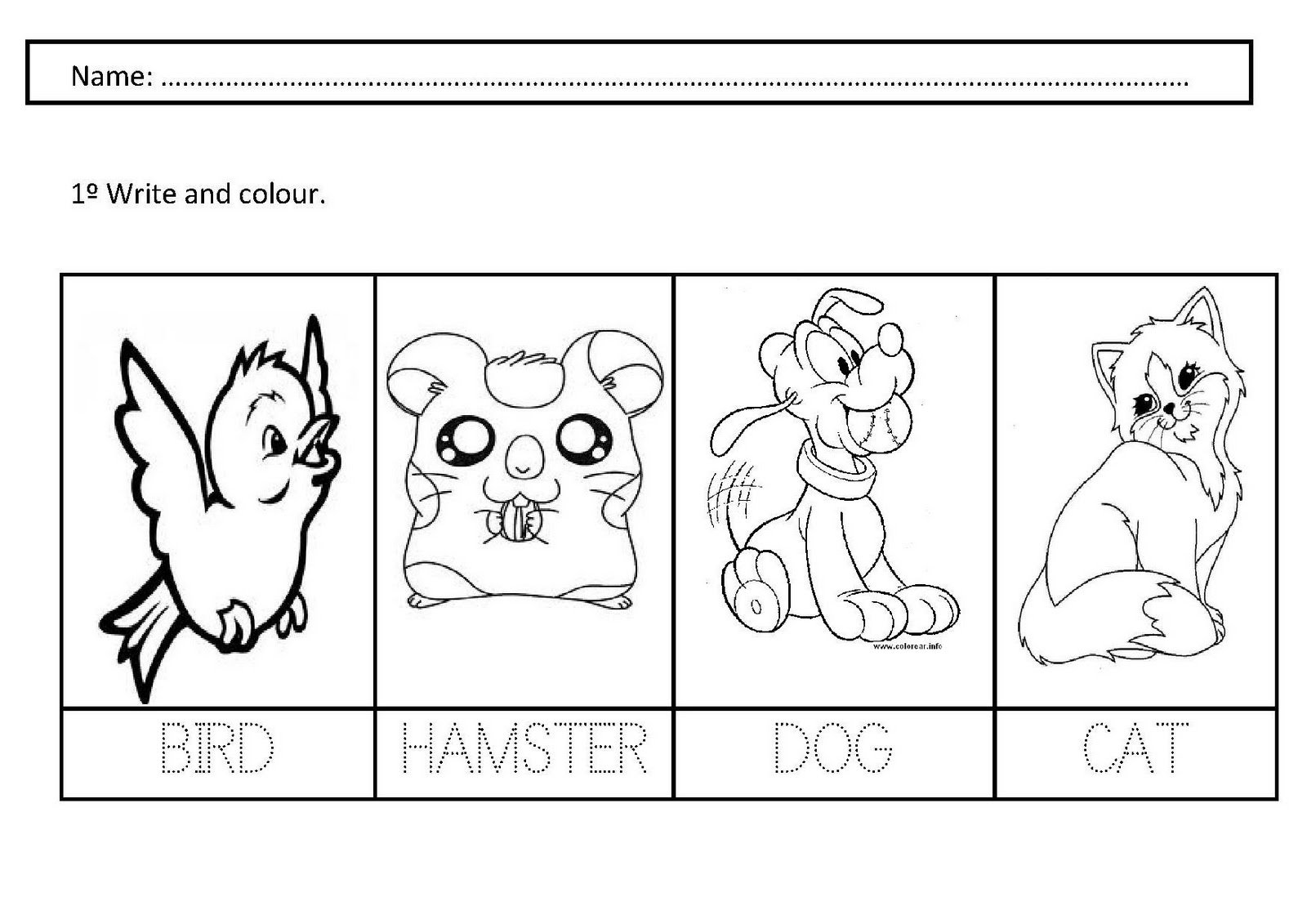 Pet Animals Worksheets For Kids