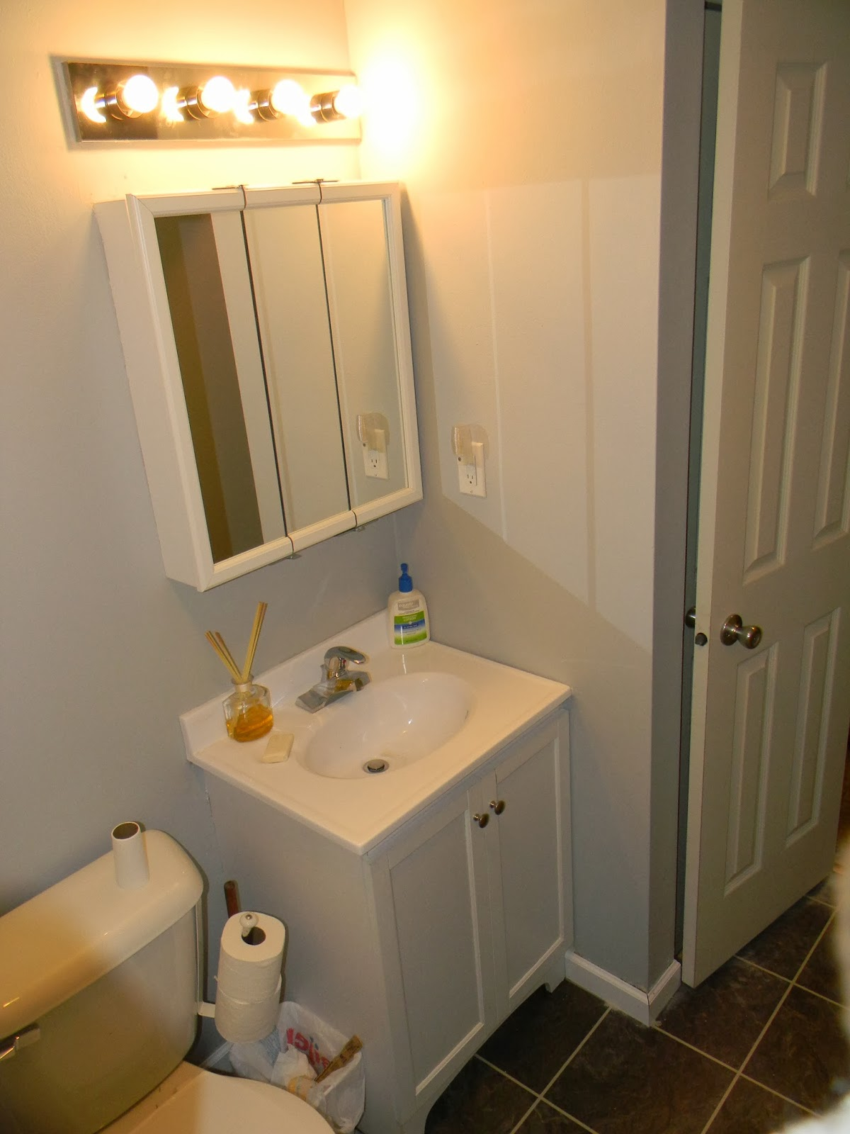 Bathroom Light Fixtures Above Medicine Cabinet With Model ...
