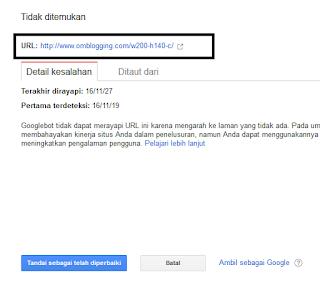 link error di google