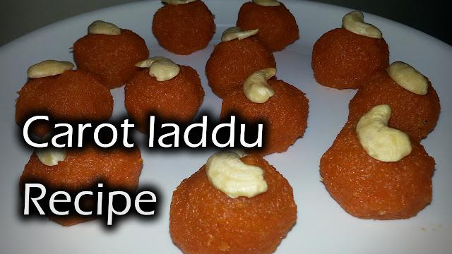 gajar ka laddu,carrot laddu,carrot recipe