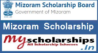 Mizoram Scholarship 2019-20 Fresh/Renewal Application Form, Apply Online